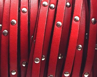 Fuchsia flat leather, 5 mm * 20 cm