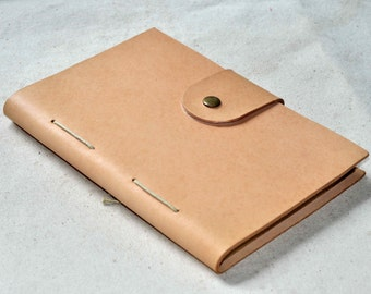 Unique Leather Journal leather sketchbook A5 size(free stamp)