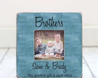 SALE Brothers Picture Frame GIFT Personalized Brothers Frame Best Man Best Friends Groomsman