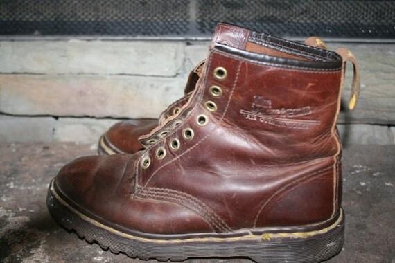 dr martens air wair brown ankle boots uk by desertskyleather. Black Bedroom Furniture Sets. Home Design Ideas