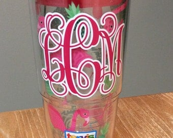 Customized Two Color Monogram Decal for Tervis Tumblers **Decal Only**