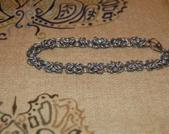 Chan Maille. Non anodized titanium bracelet