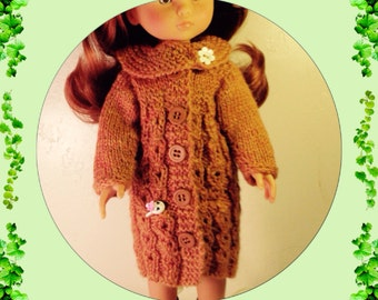 Knitting pattern pdf file for 13 inch doll by ...