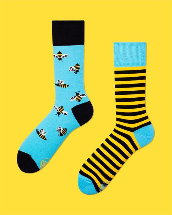 Bee Bee Socks Men Socks Colorful Socks Cool Socks