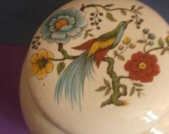 1930's Sadler Ginger Jar. Chelsa bird .