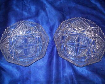 Pair of Glass Fruit Bowls