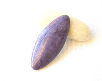 Purple ( lavender) Jade  natural stone  designer cabochon  44 x 18.5 x 5.5 mm