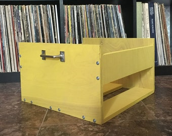 Colorful LP Crate (with Customizable Options)
