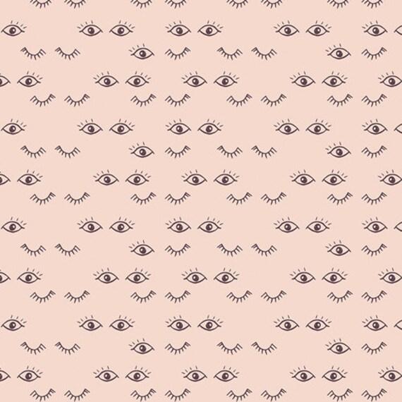 Organic Changing Pad Cover >> Hello Ollie Meadow Dreams in Blush >> Made-to-Order blush eyelash baby bedding, pale pink eyelash changing pad
