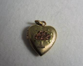 Vintage Tricolor Heart Locket