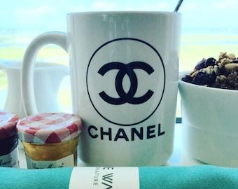 chanel mug, 16 ounce, large coffee mug