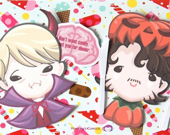Halloween Hannibal Interactive Card with Love Messages inside