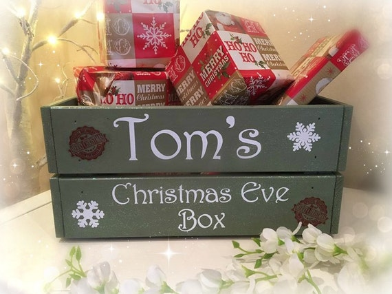 Christmas Eve Box, personalised, Christmas eve crate, Xmas Eve, Christmas Goodie box, hamper