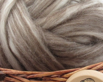 Mixed Corriedale Wool Top Roving - Undyed Natural Spinning & Felting Fiber / 1oz