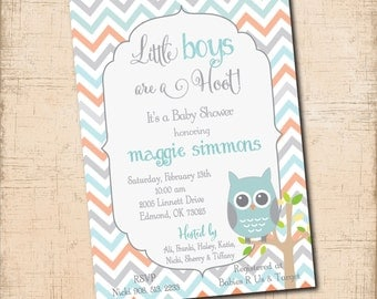 Precious Baby BOY Shower Invitation / DIGITAL FILE / printable / wording and colors can be changed