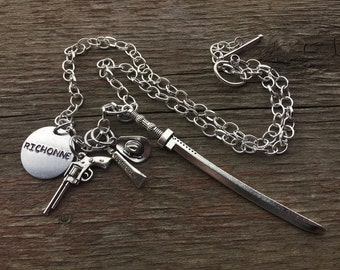 Walking Dead Inspired Richonne Charm Necklace