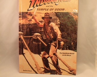 Indiana Jones and the Temple of Doom Storybook Vintage 1984 Random House, George Lucas, Steven Spielberg, Harrison Ford