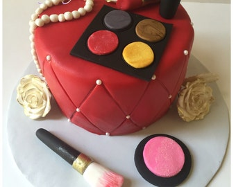 Make-up cake toppers... Cupcake toppers... Diva cake ...