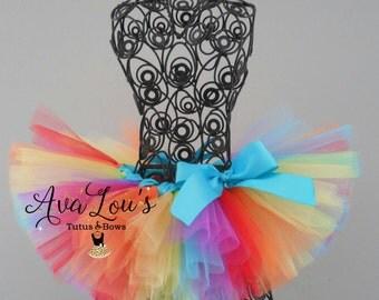 Rainbow tutu, rainbow birthday, multi color tutu, rainbow baby tutu, rainbow skirt, rainbow baby, newborn tutu, rainbow newborn tutu