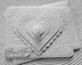 Handmade Greeting Card: Wedding