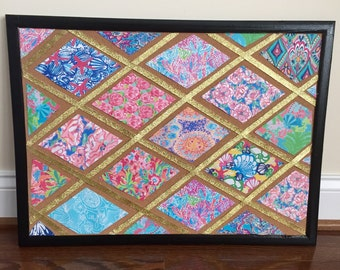 Lilly Pulitzer Inspired Cork Board