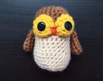 Baby amigurumi owl, crocheted owl, stuffed owl, owl amigurumi