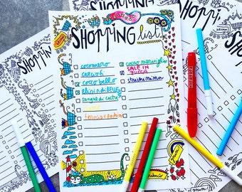 Shopping Planner, Shopping List, Printable Shopping, Shopping Plan, Shopping Tracker, Shopping Checklist