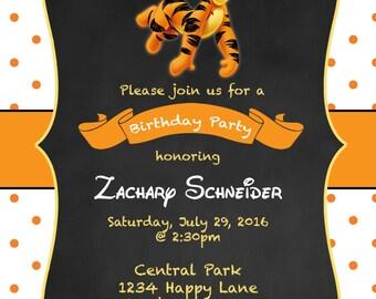 Tigger Birthday Invitation