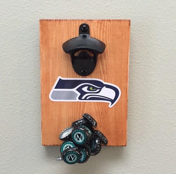 magnetic bottle opener fridge mount seahawks. Black Bedroom Furniture Sets. Home Design Ideas