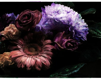 hand coloured floral photographic print #5