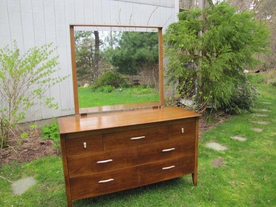 Drexel Profile Dresser W Mirror Mid Century Drexel Dresser