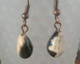 Stunning fire agate teardrop earrings