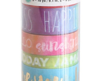 Recollections Color Splash Words Washi Tape