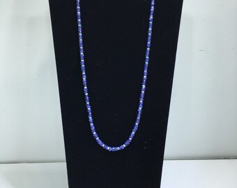 SALE 30% OFF Tanzanite and Opal Beaded Necklace - E154