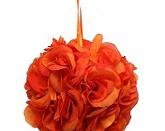 "Orange pomander ball for decoration 4.5"" kissing pomander set of 6"