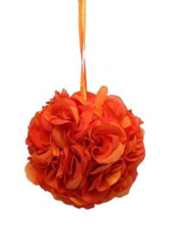 """Orange pomander ball for decoration 4.5"""" kissing pomander set of 6"""