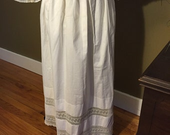 Victorian Cotton and Hand Crocheted Apron