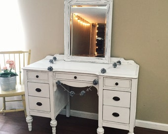 SOLD - Dressing Table - Vanity Desk With Mirror