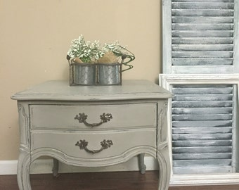 French Provincial Side Table - Nightstand