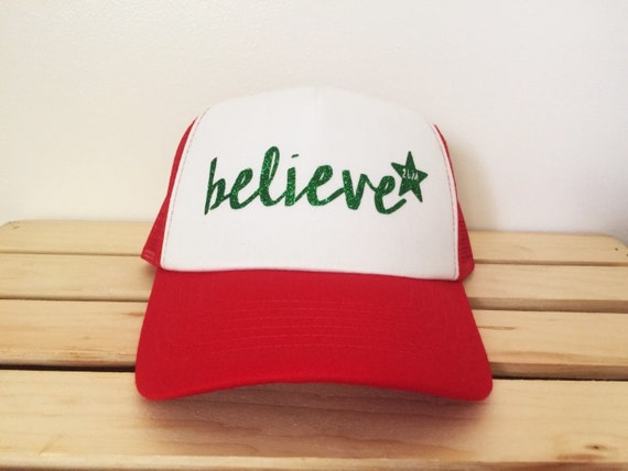 "Custom ""Believe"" Trucker Hat- 2 Legged Mermaid"