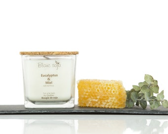 Eucalyptus and honey, soy candle