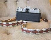 LEATHER camera strap vintage film dslr photographer canon nikon gift vintage handmade western