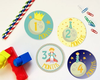 The Little Prince Monthly Milestone Stickers or Iron Ons
