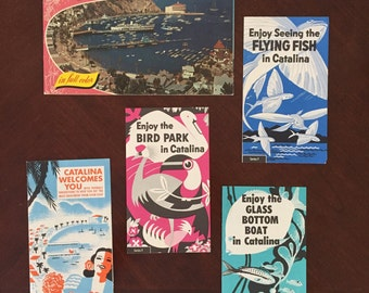 Vintage Catalina Island brochures and soveneir picture book