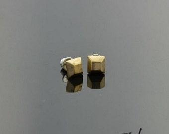 Earrings Brads Square Bronze