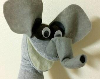 ELEPHANT Sock Puppet Hand Puppet
