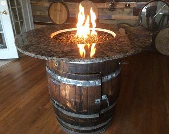 Wine Barrel  Fire Pit - supreme granite