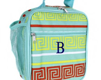 Monogram Lunchbox Key Turquoise - Insulated - Multiple Pockets - Maze