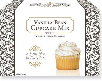 Vanilla Bean Cupcake Mix w/ Vanilla Bean Frosting