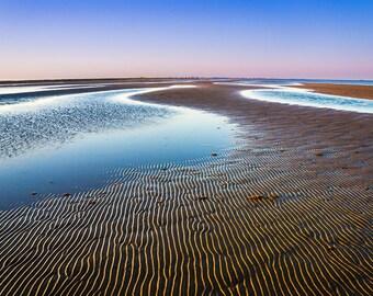 Fine Art Photography | Pink, Sky, beach, Serene, tranquility, twilight, horizon, Decor, Nature Photograph, Dreamy Image